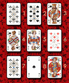 Разные расклады (для игральных карт) Kvadrat